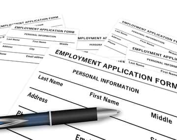 Job application form for a Canadian work permit